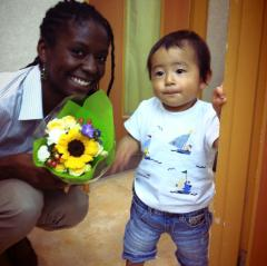 My coworker's son who I will teach English on the side.